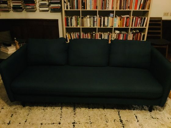Blue couch, one year old & perfect condition - image 3