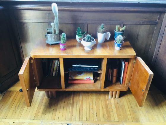 Vintage wood side table - image 3