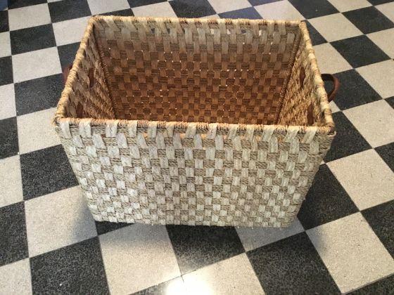 Large Moroccan Straw Basket - image 1
