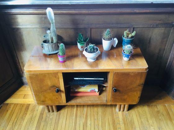 Vintage wood side table - image 1