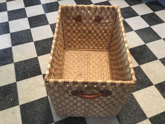 Large Moroccan Straw Basket - image 3