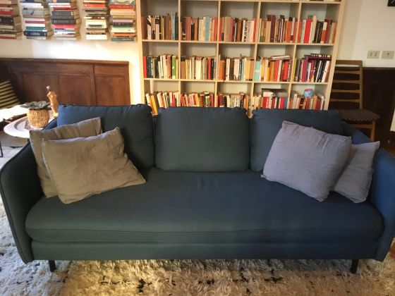 Blue couch, one year old & perfect condition - image 1