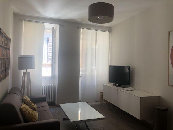 Bright remodeled, 1-bedroom fully furnished flat - image 1