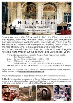 History & Crime. The dark side of Rome alongside historical traits throughout the centuries - Sunday 22 November 2020 - image 2