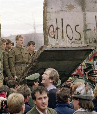 The fall of the Berlin wall. 9 November 1989.