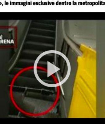 Rome's Repubblica metro station escalator