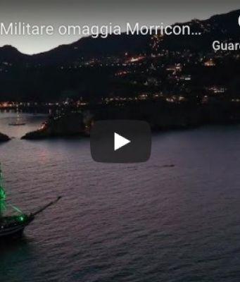 The Amerigo Vespucci pays homage to Ennio Morricone