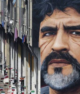 Diego Maradona mural in Naples