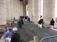St Peter's Square colonnade restored