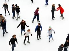 Ice-skating in Rome