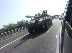 Armored vehicle on the GRA
