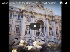 What happens to the coins at the Trevi Fountain?