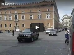 President Trump passing through Rome