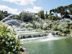 Rome's waterfall garden reopens after 56 years