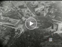 1919, Rome seen by a Zeppelin