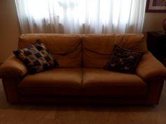 Suede sleep sofa to give away free of charge