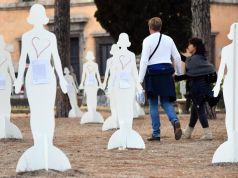 Rome installation highlights violence against women