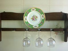 Hardwood plate rack