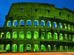 Rome's Colosseum turns green for St Patrick's Day
