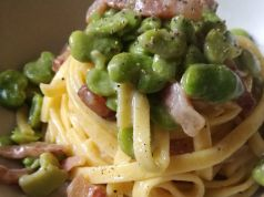 Wanted in Rome recipe: Pasta con fave, guanciale e pecorino