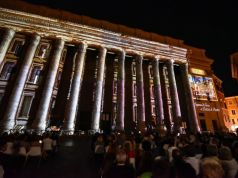 Free light show at Rome's Temple of Hadrian