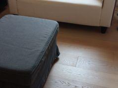 Compact 2-seat sofa + storage ottoman