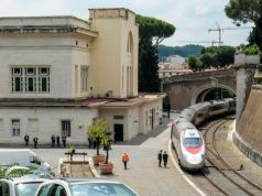 Vatican train to Barberini Garden at Castel Gandolfo outside Rome