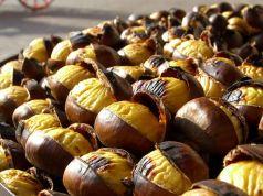 Roast chestnut festival at Vallerano near Rome