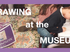 'Drawing at the museum' for children
