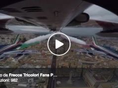 Flying over Rome with the Frecce Tricolori