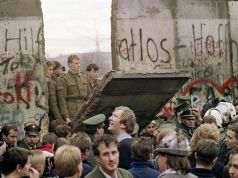 The fall of the Berlin wall. 9 November 1989.