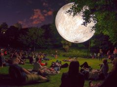 Magic moon in Rome's Orange Garden for New Year's Eve