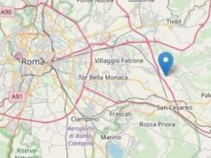 3.2 magnitude earthquake east of Rome