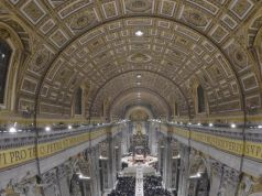 Vatican illuminates St Peter's Basilica with led lights