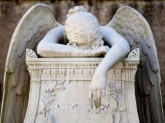 Angel of Grief in Rome's Non-Catholic Cemetery