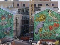 New mural by Lucamaleonte in Rome's S. Lorenzo