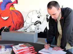 Zerocalcare autograph session at MAXXI in Rome