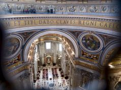 Climbing St Peter's dome in the Vatican