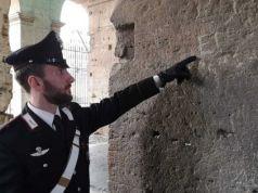 Tourist caught vandalising Colosseum in Rome