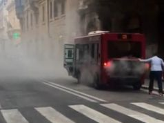 Another electric minibus catches fire in Rome