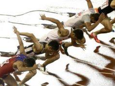 Photographs of Japanese athletes in Rome