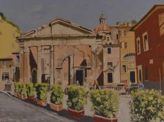 Kevin Murray: Open Studio of Rome paintings