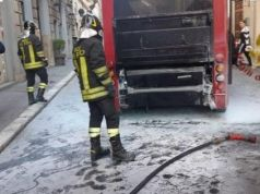 Rome electric bus catches fire in centre
