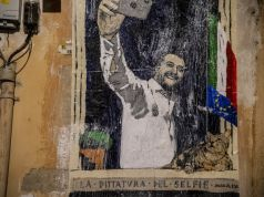 Salvini mocked in Rome street art