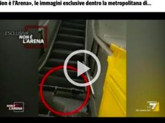 Rome's Repubblica metro station escalator