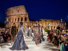 Fendi fashion show in the Roman Forum