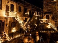 Night of Candles at Vallerano near Rome