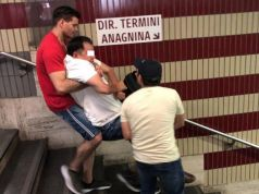 Rome metro lift and escalators broken: commuters carry disabled tourist