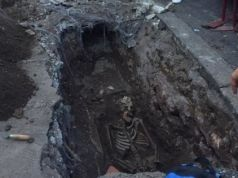 Human skeleton discovered near Rome pyramid