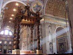 Man throws candelabra off main altar in St Peter's